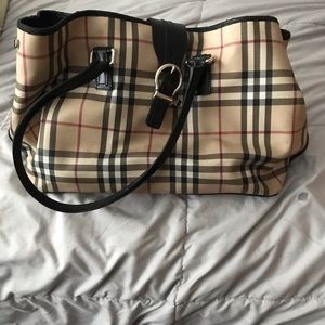 Burberry used tote